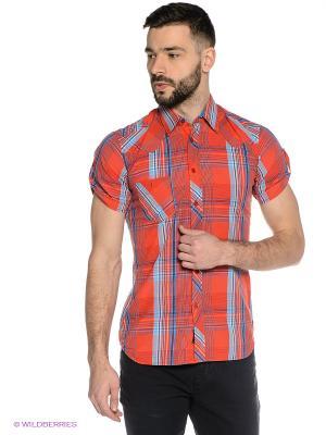 Рубашка Mavango. Цвет: красный, голубой
