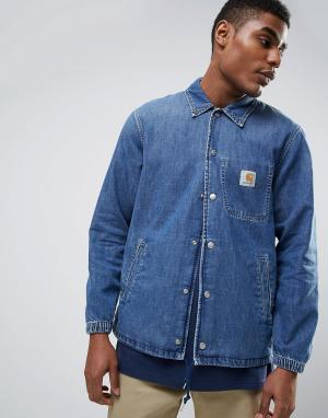Carhartt Спортивная джинсовая куртка WIP. Цвет: синий