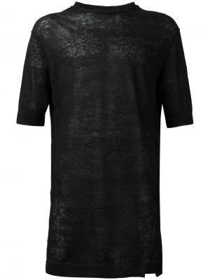 Вязаная футболка Damir Doma. Цвет: синий