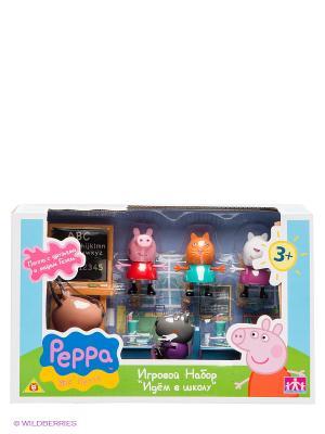 Игровой набор Идем в школу, Свинка Пеппа Peppa Pig. Цвет: розовый, синий