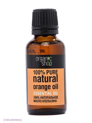 Масло апельсина эфирное 30мл Organic Shop. Цвет: оранжевый
