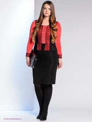 Платье Klimini. Цвет: черный, коралловый