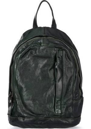 Кожаный рюкзак с отделом на молнии Campomaggi. Цвет: хаки