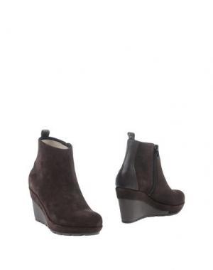 Полусапоги и высокие ботинки APEPAZZA. Цвет: темно-коричневый
