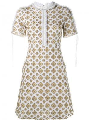 Платье Eve Huishan Zhang. Цвет: белый