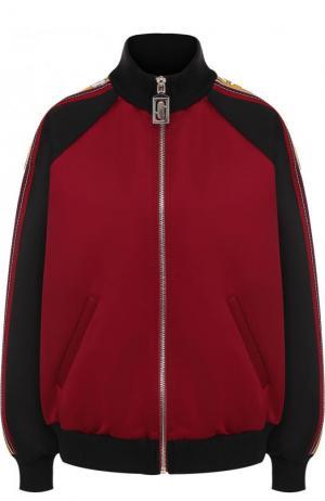 Кардиган на молнии с воротником-стойкой Marc Jacobs. Цвет: бордовый