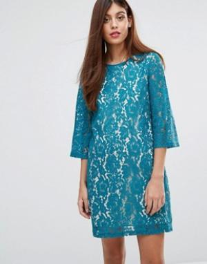 Darling Кружевное платье-туника Ariana. Цвет: зеленый