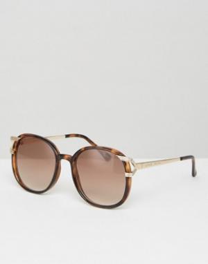 Somedays Большие солнцезащитные очки в винтажном стиле Lovin. Цвет: черный
