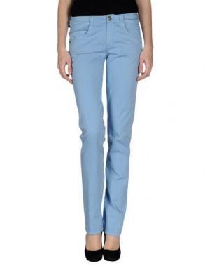 Повседневные брюки CARLO CHIONNA. Цвет: небесно-голубой