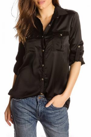 Блуза GAZOIL. Цвет: черный