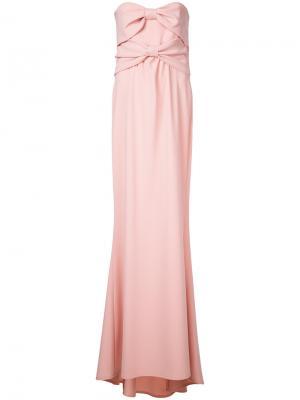 Длинное вечернее платье Boutique Moschino. Цвет: розовый и фиолетовый