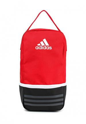 Сумка adidas Performance. Цвет: красный