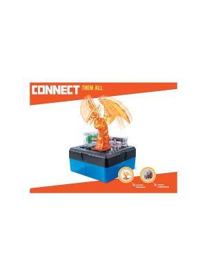 Научный опыт Птеродактиль автоматизированный со светом, на батарейках, в коробке Amazing Toys. Цвет: синий, темно-серый, оранжевый