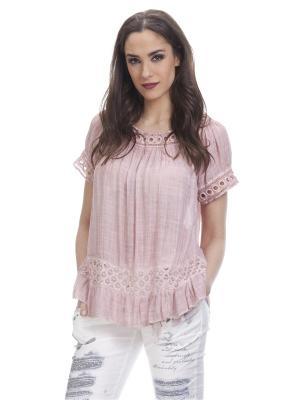 Блузка TANTRA. Цвет: розовый