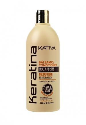 Бальзам для волос Kativa. Цвет: белый
