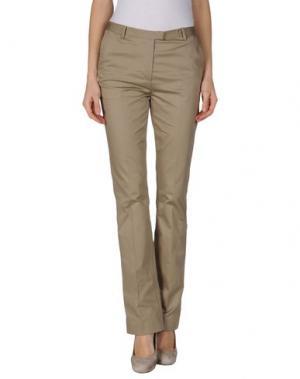 Повседневные брюки GIULIANO FUJIWARA. Цвет: голубиный серый