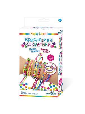 Happy Loom. Набор для создания браслетов Браслетики-секретики. Loom. Цвет: желтый, зеленый, розовый