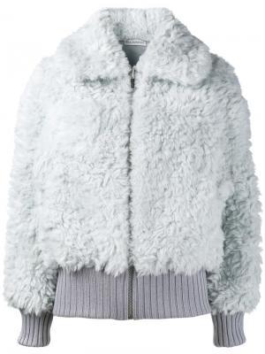 Куртка из искусственного меха Vika Gazinskaya. Цвет: серый