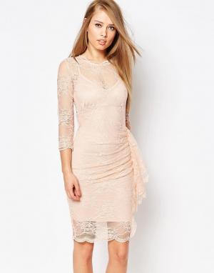Body Frock Кружевное платье с рюшами Joanna. Цвет: розовый