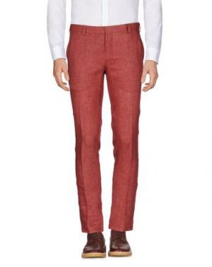 Повседневные брюки DOMENICO TAGLIENTE. Цвет: кирпично-красный
