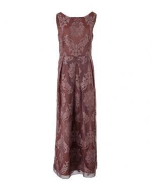 Длинное платье JUCCA. Цвет: коричневый