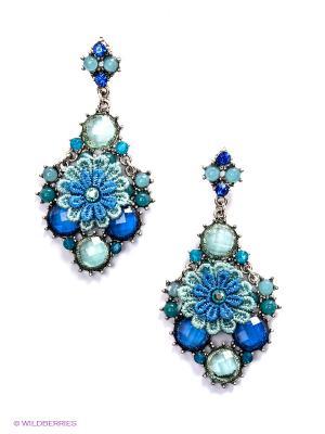 Серьги Royal Diamond. Цвет: синий, голубой