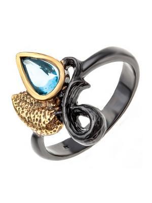 Кольцо Балтийское золото. Цвет: черный, голубой, золотистый