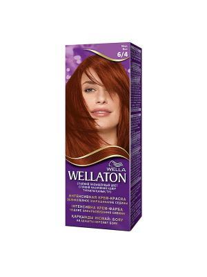 Крем-краска для волос стойкая 6/4 Медь WELLATON. Цвет: фиолетовый