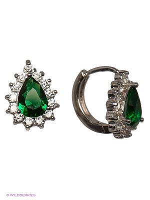 Серьги Royal Diamond. Цвет: зеленый