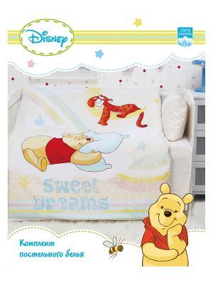 Комплект постельного белья Disney. Цвет: кремовый, светло-желтый
