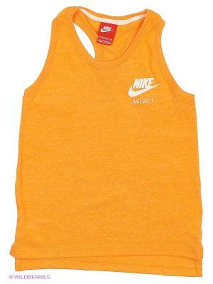 Топ GYM VINTAGE TANK YTH Nike. Цвет: оранжевый