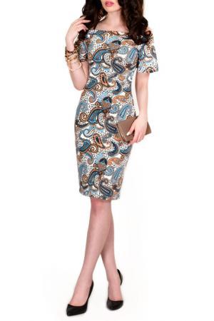 Платье FRANCESCA LUCINI. Цвет: лазурный