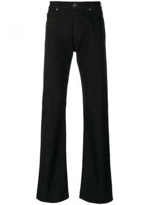Расклешенные джинсы свободного кроя Armani Jeans. Цвет: чёрный