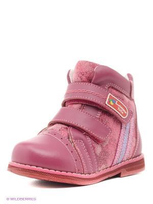 Ботинки ортопедические Luomma. Цвет: розовый