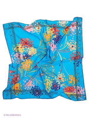 Платок Sabellino. Цвет: голубой, красный, оранжевый