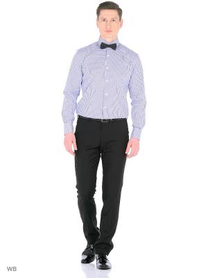 Рубашка мужская манжет под запонки WHITE CUFF. Цвет: белый, светло-голубой