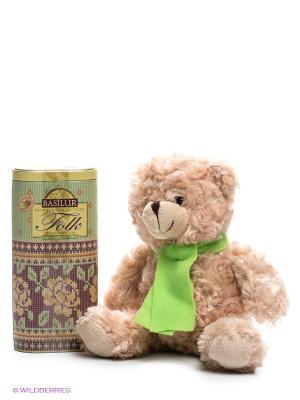 Набор Базилур ФОЛК Радость с игрушкой, 100 г. Basilur. Цвет: светло-зеленый, кремовый