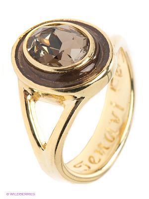 Кольцо Jenavi. Цвет: золотистый, коричневый