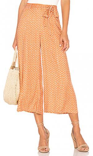 Укороченные брюки tangelo MINKPINK. Цвет: оранжевый