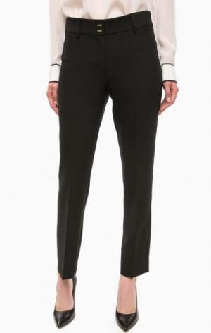 Черные классические брюки на молнии olsen. Цвет: черный