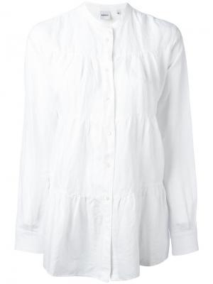 Блузка с присборенной отделкой на пуговицах Aspesi. Цвет: белый