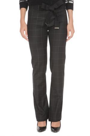 Прямые брюки с застежкой на молнию Cristina Effe. Цвет: 6100-6a 5, nero/grigio