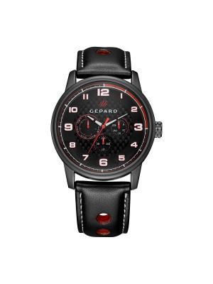 Часы GEPARD.. Цвет: черный,красный