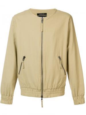 Куртка-бомбер без воротника Publish. Цвет: телесный
