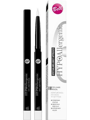 Подводка для глаз гипоаллергенная в стике Bell Hypoallergenic Eye Liner Pencil, Тон 30. Цвет: белый