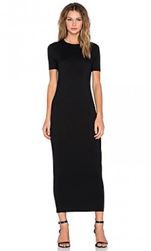 Макси платье-рубашка BLQ BASIQ. Цвет: черный
