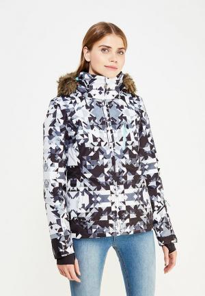 Куртка горнолыжная Roxy. Цвет: черно-белый