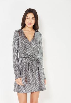 Платье TrendyAngel. Цвет: серебряный