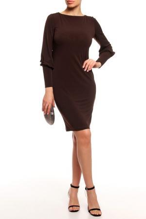 Платье с манжетом Alina Assi. Цвет: коричневый