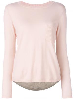 Cashmere colour-block top Chinti And Parker. Цвет: розовый и фиолетовый